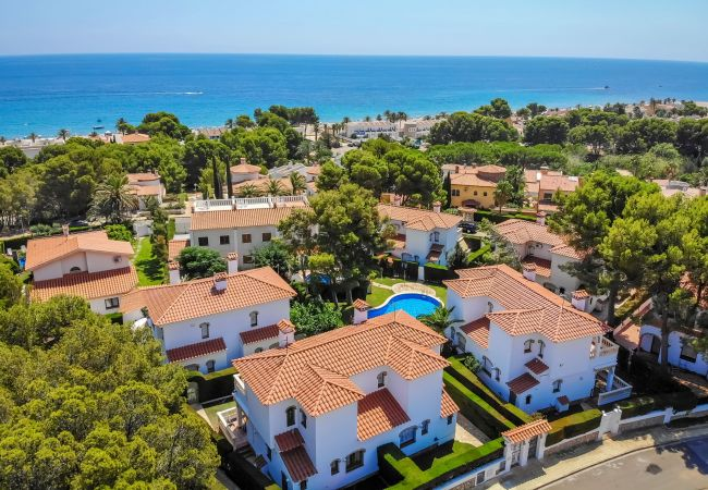 Casa en Miami Playa - RIOJA3 adosado con jardín, barbacoa y piscina