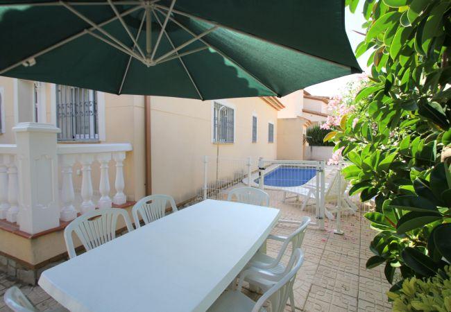 Villa en Miami Playa - BERLIN villa adosada piscina privada y jardín