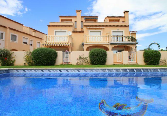 Дом на Hospitalet de L´Infant - SAN ROC adosado cerca del mar, piscina, jardín